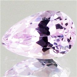 6.9ct Hot Pink Kunzite Pear (GEM-43334)