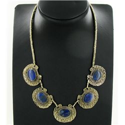 235ct Handcrafted Lapis Nickel Necklace (JEW-4372)