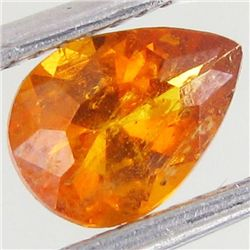 0.8ct Rare Mandarin Orange Clinohumite Pear (GEM-43477)