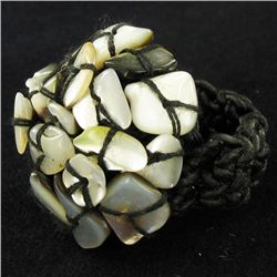 Crocheted Shell Ring (JEW-4317)