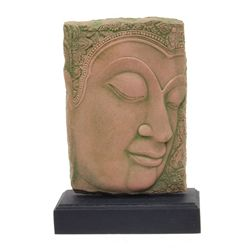 Excellent Hand Cast Sandstone Buddha Face  (CLB-376)