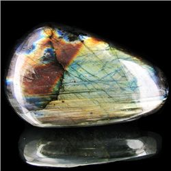 645ct Large Polished Rainbow Labradorite Cabochon (MIN-001657)