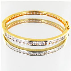 63.4twc Lab Diamond Gold Vermeil Bracelet (JEW-3536)
