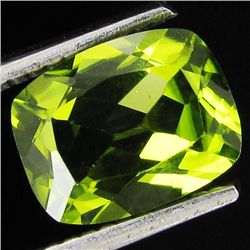 2ct Top Peridot Cushion Cut (GMR-1094A)