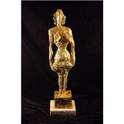 Alberto Giacometti  Original,   Gold limited Edition Bronze- Woman
