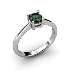 Emerald 0.48ctw Ring 14kt White Gold