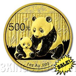 Chinese Gold Panda 1 Ounce 2012