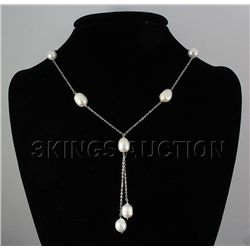 94.52ctw Freshwater Pearl Necklace with Silver Chain