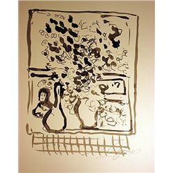 Original Hand Draw, Ink Drawing  Signed  Chagall