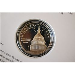1994-S US Bicentennial Of US Capitol Commerative $1 Proof W/History; 90% Silver 26.730 Grams; EST. $