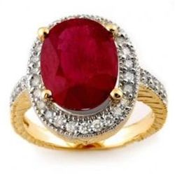 8.0 ctw Ruby & Diamond Ring 14K