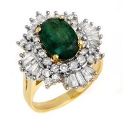3.9 ctw Emerald & Diamond Ring 14K