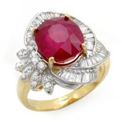 5.2 ctw Ruby & Diamond Ring 14K