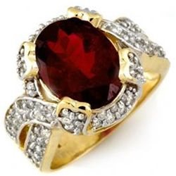 4.50ct Rubellite & Diamond Ring 14K