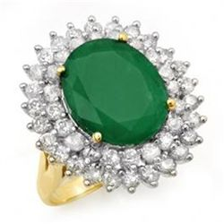 10.83ctw Emerald & Diamond Ring 14K