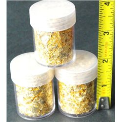 (1) Gold Leaf Flakes in Bottle- Non Bullion