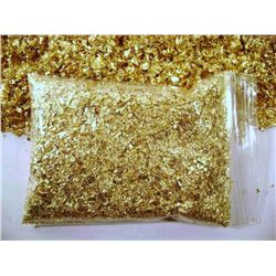 100 grams of Gold Leaf Flakes Scrap- NON BULLION