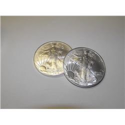 Lot of (2) Silver Eagles Random Years