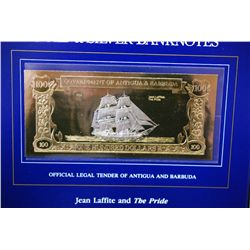 "Government Of Antigua & Barbuda $100 Foreign Bank Note; ""Jean Laffite & The Pride""; The World's Firs"