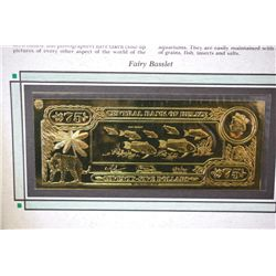 "Central Bank Of Belize $75 Foreign Bank Note; ""Fairy Basslet""; The First Gold Bank Notes Of Belize;"