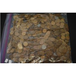 Lincoln Wheat Back Penny; Various Dates & Conditions; Lot of 1000; EST. $40-60