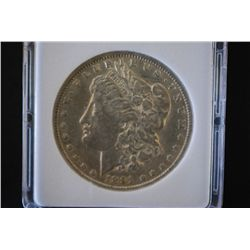 1891-CC Silver Morgan $1; MCPCG Graded F12; EST. $75-125