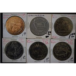 California State Token; Lot of 6; EST. $10-20