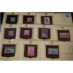 1989 Historic Stamps Of America; Various Dates, Events, People, Etc.; Lot of 10; EST. $15-40