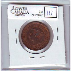 Canada 1 Cent 1887 MS-63 Red & Brown, Repunched 2nd 8 and 7 the 7 only visible at the base.