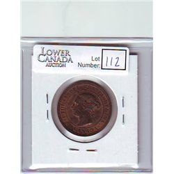 Canada 1 Cent 1888 AU-55, Repunched 2nd 8, good deal of remaining Red.