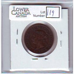 Canada 1 Cent 1894 VF-20, Even Brown color.