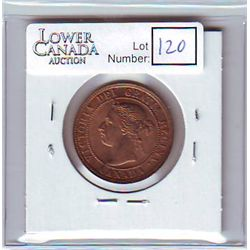 Canada 1 Cent 1895 MS-63, Red & Brown.