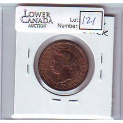Canada 1 Cent 1896 MS-62, Red & Brown.