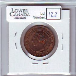 Canada 1 Cent 1897 MS-60, Red & Brown.