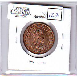 Canada 1 Cent 1902 MS-63, Red.
