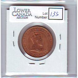 Canada 1 Cent 1910 MS-62, Red.