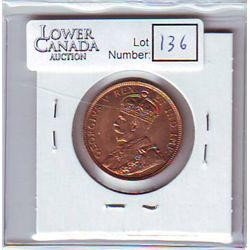 Canada 1 Cent 1911 MS-64, Red.