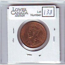 Canada 1 Cent 1913 MS-60, Red & Brown.