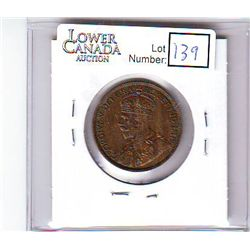 Canada 1 Cent 1914 MS-62, Brown.