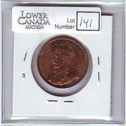 Canada 1 Cent 1916 MS-60, Red & Brown.