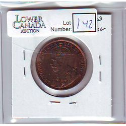 Canada 1 Cent 1917 MS-60, Brown.