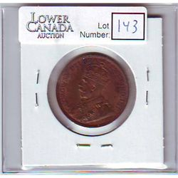 Canada 1 Cent 1918 MS-60, Brown.