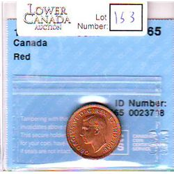 Cent 1940, CCCS MS-65; Red.