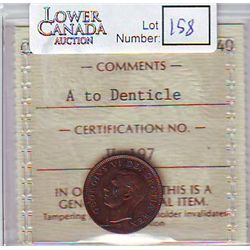 Cent 1949, ICCS EF-40; A to Denticle.