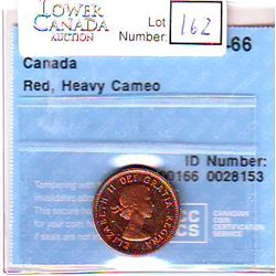 Cent 1962, CCCS PL-66; Red, Heavy Cameo.