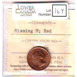 Cent 1962, ICCS MS-64; Red, Missing M.