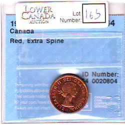 Cent 1964, CCCS MS-64; Red, Extra Spine.