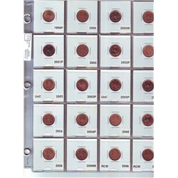 Cent 1999P to 2011 Magnetic, coins are form rolls or Mint Sets, none circulated, to be viewed. Lot o