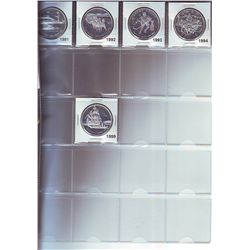1 Dollar 1971 to 1999 missing 1995, 1996, 1997 & 1998. 1971 to 1980 are silver specimen, 1981 to 199