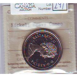 1 Dollar 1975, ICCS PL-66; Nickel, Heavy Cameo. Scarce HC on Nickel $.